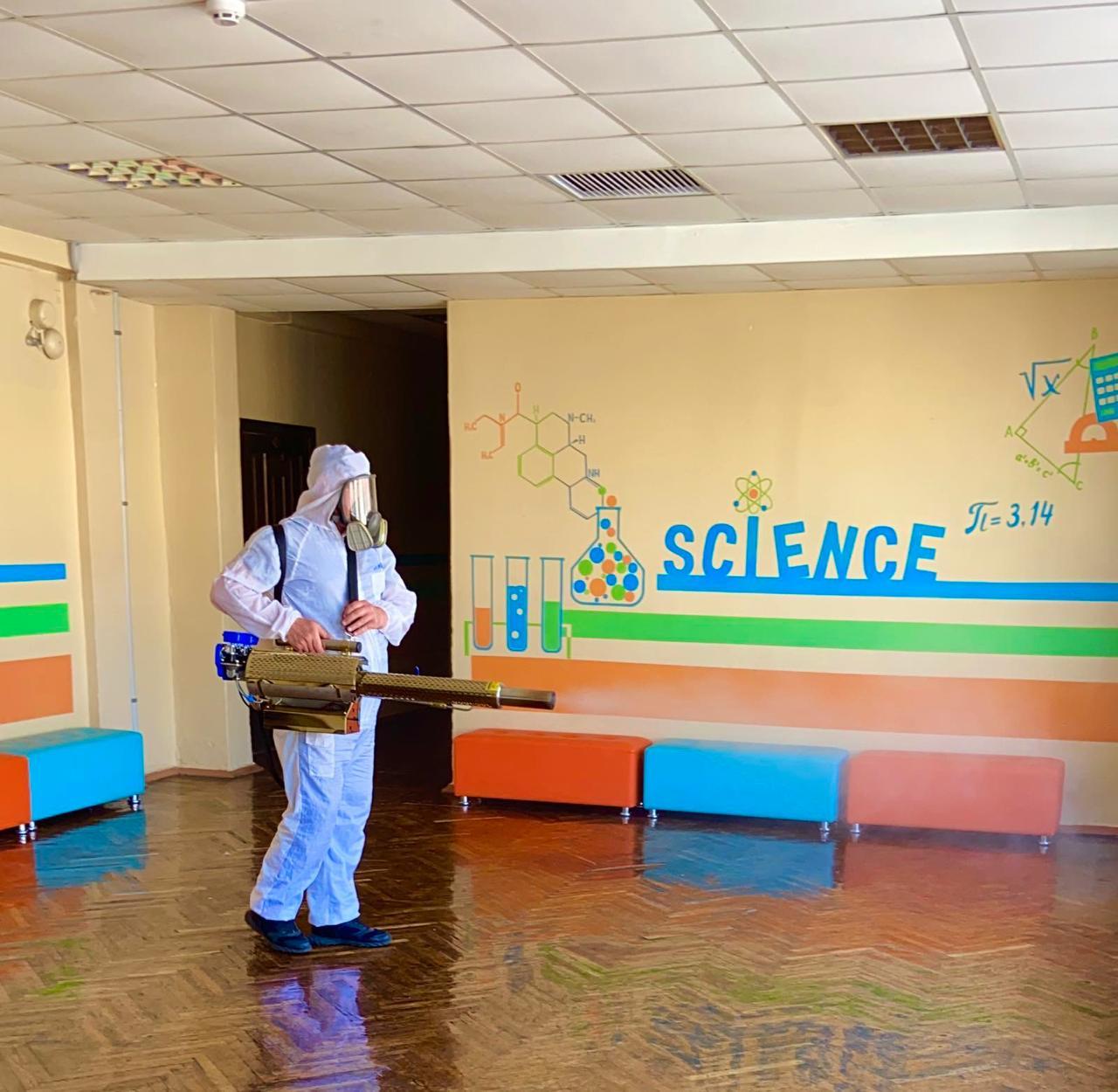 У школах Харкова проводять дезінфекцію приміщень