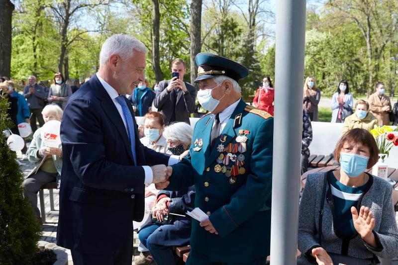 Напередодні 9 Травня у Молодіжному парку висадили алею дерев і організували зустріч ветеранів